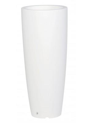 Ghiveci Shuttle rotund cu perete dublu ∅35 alb