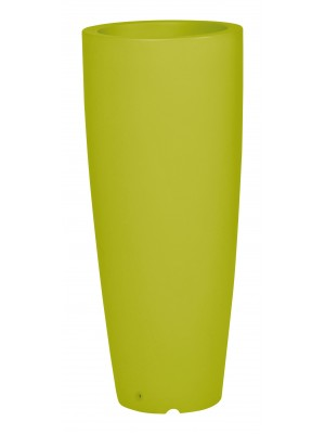 Ghiveci Shuttle rotund cu perete dublu ∅35 verde lemon